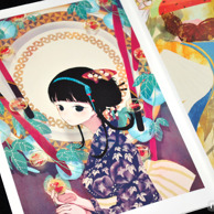 Lenso Girl Himemi Sakamoto Illustrations preview